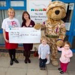 Help For Heroes bear cheque presentation