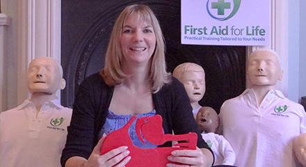 Emma Hammet of First Aid for Life, one of many women business owners who use the Business & IP Centre