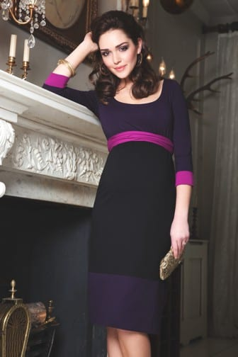 Tiffany Rose colour block purple dress