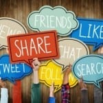The changing shape of social media sharing
