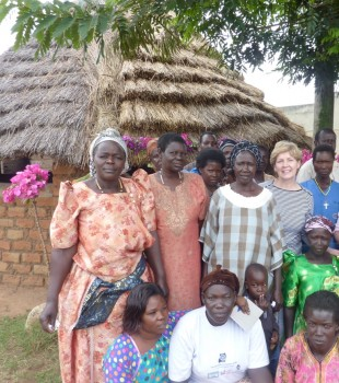 Louise Third with the Women's Village Savings and Loans Association in Uganda