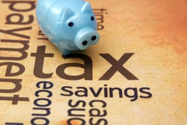Image: Tax and savings via Shutterstock