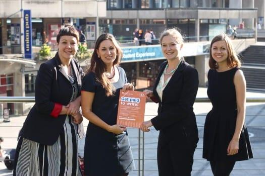 L-R Emily Buchanan (UEA), Dr Sarah McIntyre (UEA), Rebecca Lewis Smith (Fountain), Lucy Jobber (UEA)