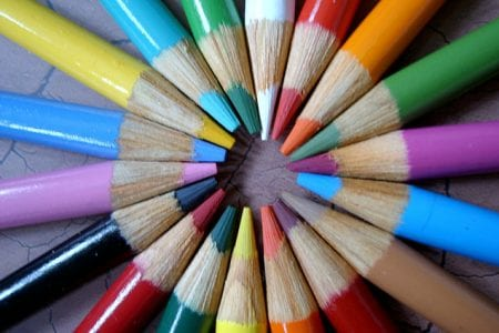 rainbow coloured pencils