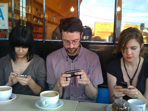 smartphone cafe