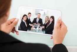 Image: Video conferencing via Shutterstock