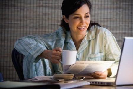 homeworking in pajamas