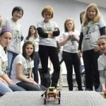 How can women in business help get more girls into STEM careers?