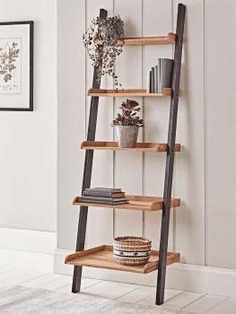 Oak ladder shelf