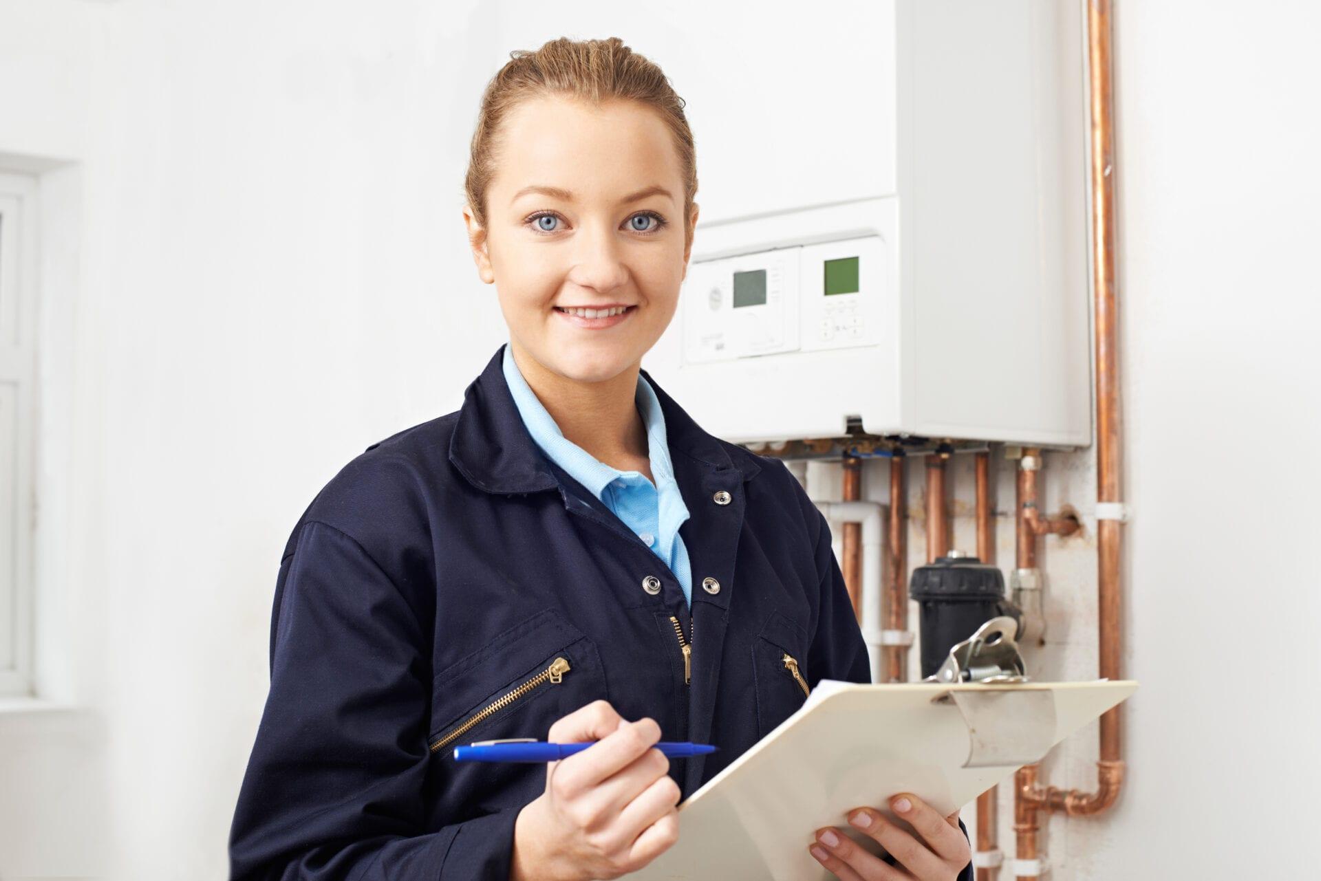 women heating engineer